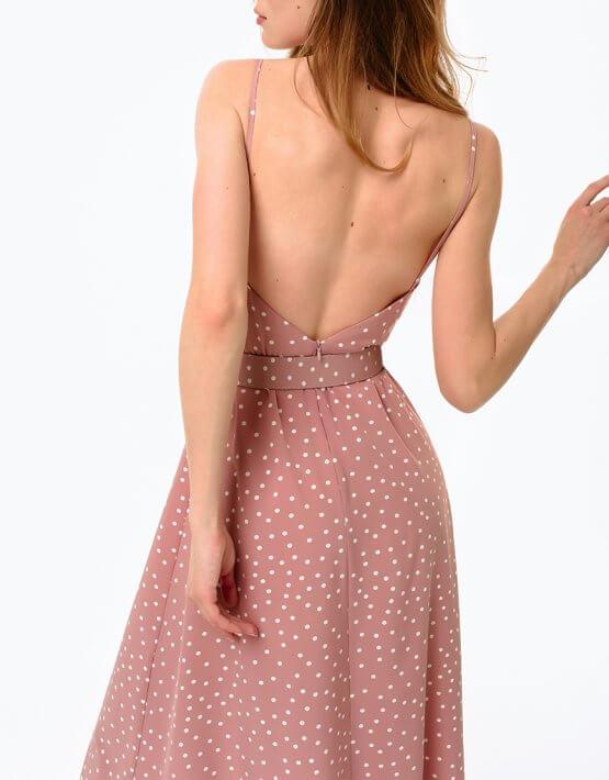 Платье с разрезом и открытой спиной MGN_1716P, фото 5 - в интеренет магазине KAPSULA