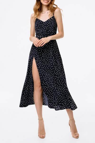 Платье с разрезом и открытой спиной MGN_1716TS, фото 1 - в интеренет магазине KAPSULA