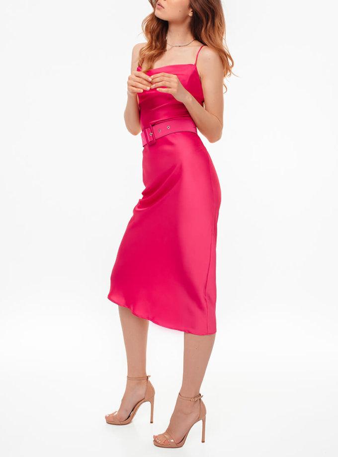 Платье на тонких бретелях с поясом MGN_1719М, фото 1 - в интернет магазине KAPSULA