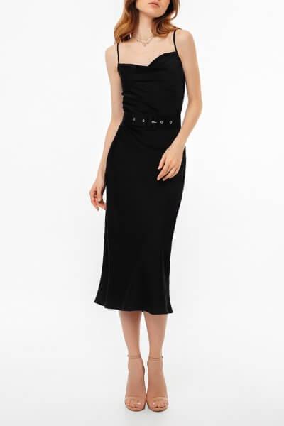Платье на тонких бретелях с поясом MGN_1719CH, фото 1 - в интеренет магазине KAPSULA