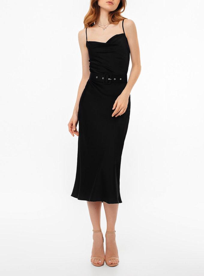 Платье на тонких бретелях с поясом MGN_1719CH, фото 1 - в интернет магазине KAPSULA