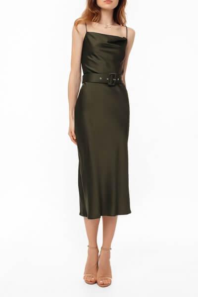 Платье на тонких бретелях с поясом MGN_1719H, фото 1 - в интеренет магазине KAPSULA