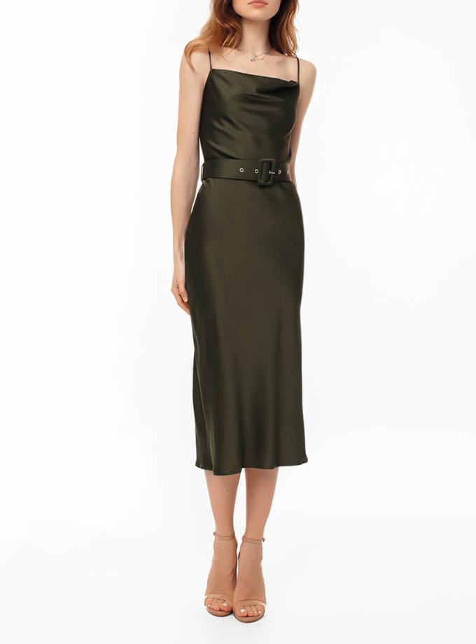 Платье на тонких бретелях с поясом MGN_1719H, фото 1 - в интернет магазине KAPSULA
