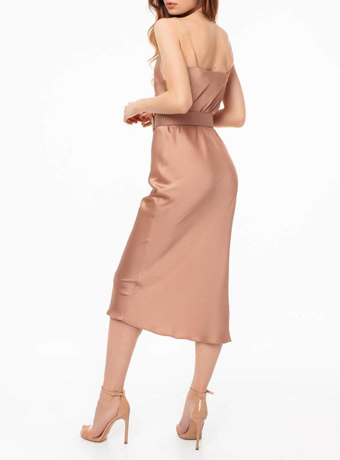 Платье на тонких бретелях с поясом MGN_1719N, фото 1 - в интернет магазине KAPSULA