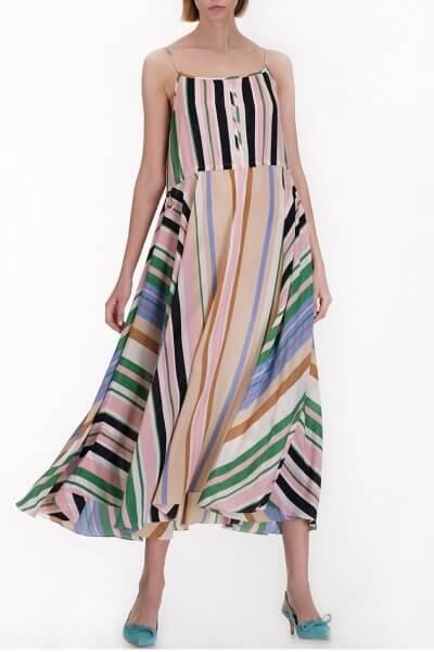 Шелковое платье на кулисках MISS_DR-011-multi, фото 1 - в интеренет магазине KAPSULA