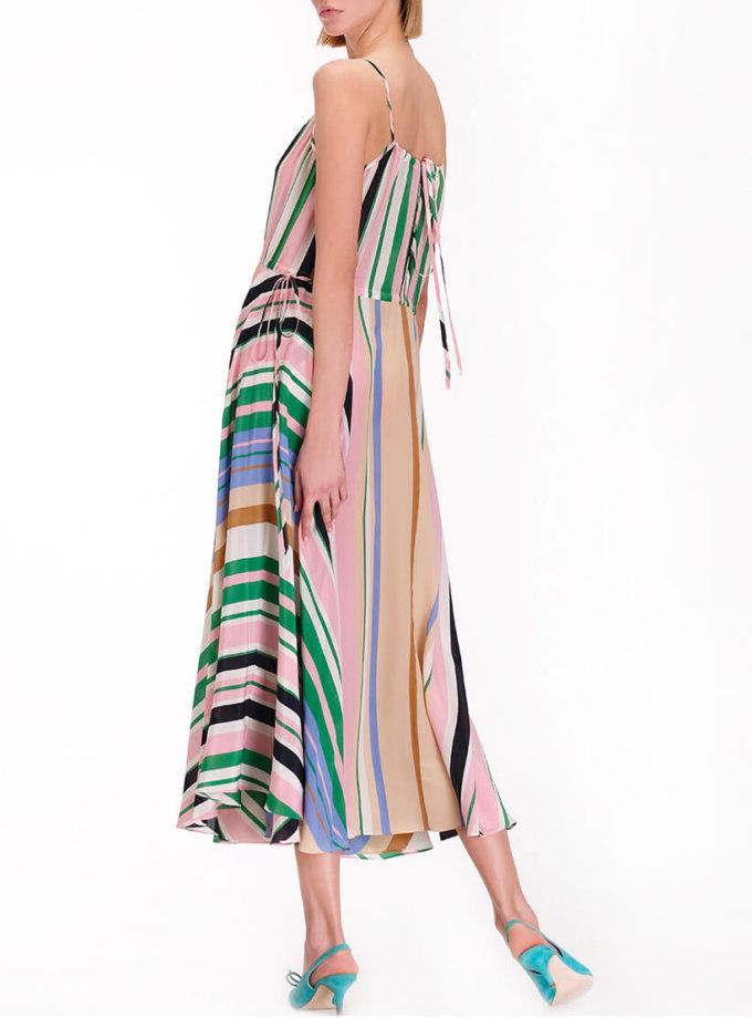 Шелковое платье на кулисках MISS_DR-011-multi, фото 1 - в интернет магазине KAPSULA