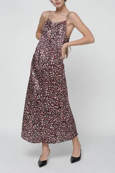 Шелковое платье Daisy с открытой спиной MISS_DR-016-leo, фото 5 - в интеренет магазине KAPSULA