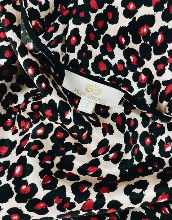 Шелковое платье Daisy с открытой спиной MISS_DR-016-leo, фото 6 - в интеренет магазине KAPSULA