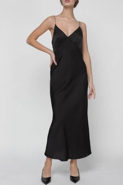 Платье комбинация Peony со стразами MISS_DR-017-black, фото 1 - в интеренет магазине KAPSULA