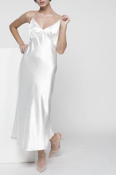 Платье комбинация Peony со стразами MISS_DR-017-white, фото 1 - в интеренет магазине KAPSULA