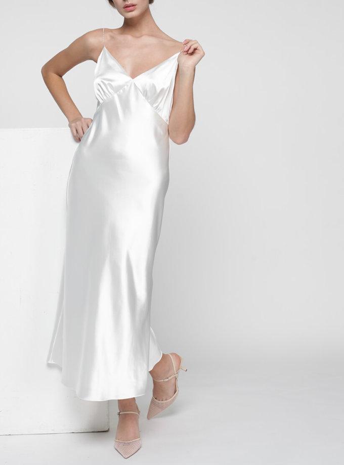 Платье комбинация Peony со стразами MISS_DR-017-white, фото 1 - в интернет магазине KAPSULA