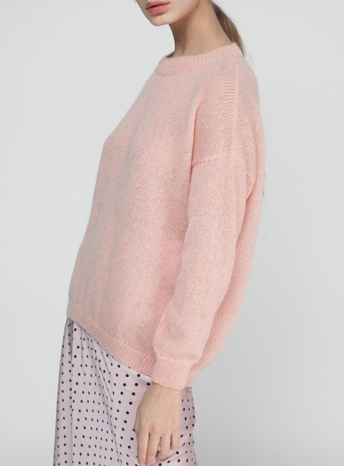 Тонкий свитер из кидмохера MISS_PU-013-pink, фото 1 - в интеренет магазине KAPSULA