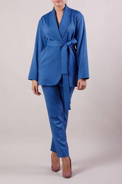 Брючный костюм с поясом MMT_015-047-blue, фото 1 - в интеренет магазине KAPSULA