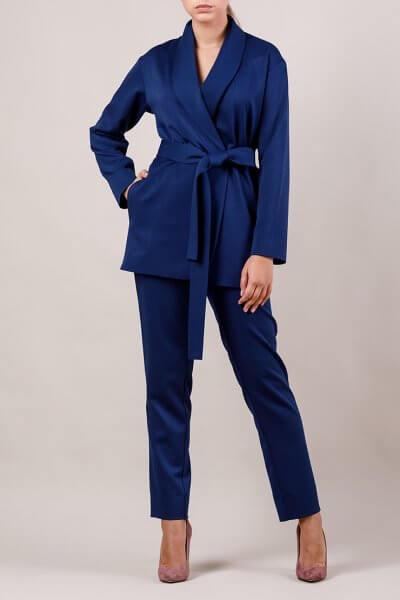 Брючный костюм с поясом MMT_015-047-dark blue, фото 1 - в интеренет магазине KAPSULA
