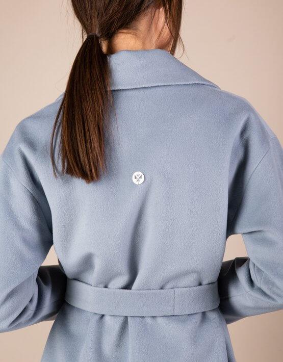 Пальто из тонкой шерсти MMT_093_blue, фото 6 - в интеренет магазине KAPSULA