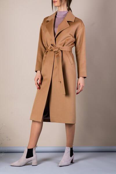 Пальто из тонкой шерсти MMT_093_camel, фото 1 - в интеренет магазине KAPSULA