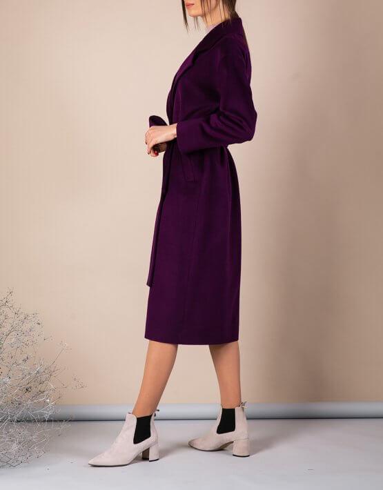 Пальто из тонкой шерсти MMT_093_fiolet, фото 8 - в интеренет магазине KAPSULA
