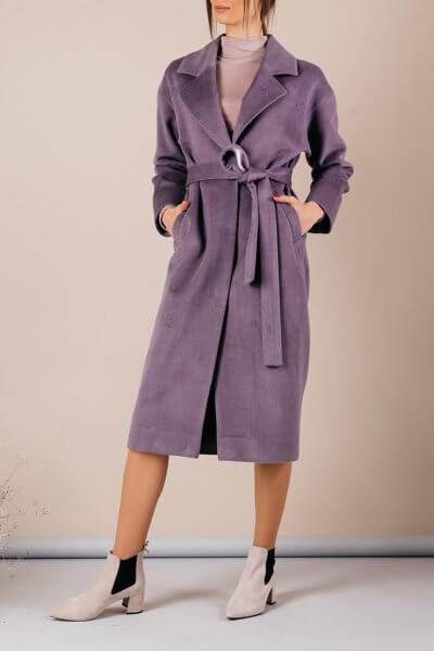 Кашемировое пальто с поясом MMT_093_lavanda, фото 1 - в интеренет магазине KAPSULA