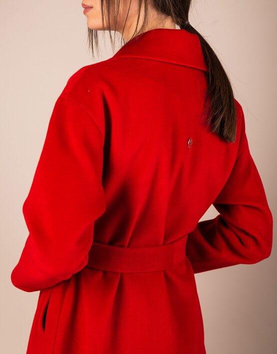 Пальто из плотной шерсти MMT_093_red, фото 9 - в интеренет магазине KAPSULA