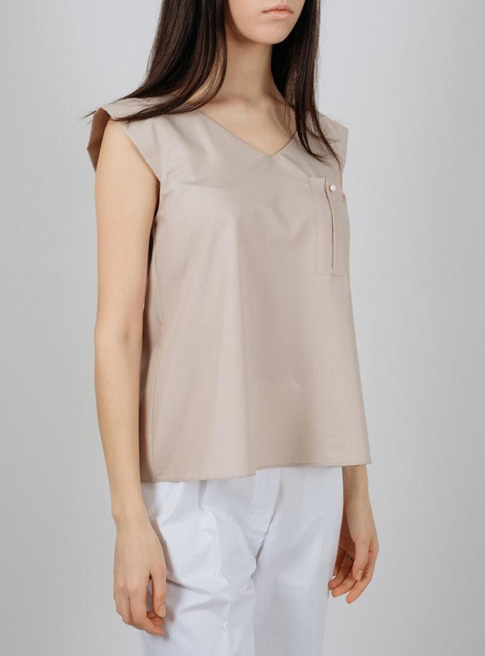 Блуза из хлопка с карманом MNTK_MTBL1936, фото 1 - в интеренет магазине KAPSULA