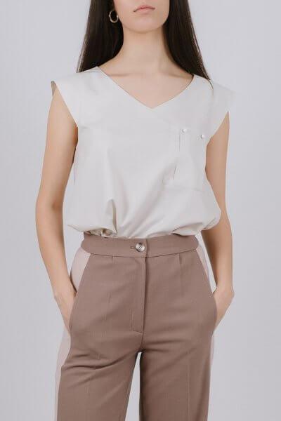 Блуза из хлопка с карманом MNTK_MTBL1937, фото 5 - в интеренет магазине KAPSULA