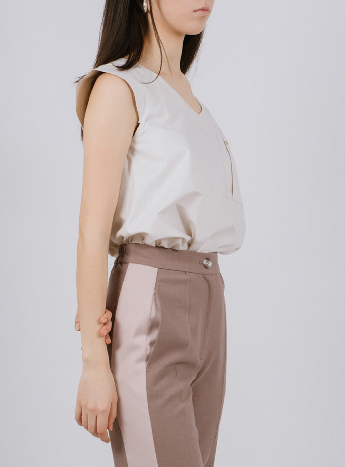 Блуза из хлопка с карманом MNTK_MTBL1937, фото 1 - в интернет магазине KAPSULA