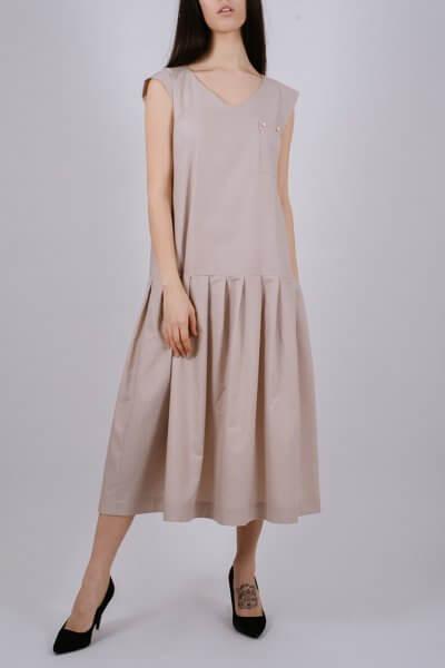 Хлопковое платье с карманом MNTK_MTDRS202, фото 1 - в интеренет магазине KAPSULA