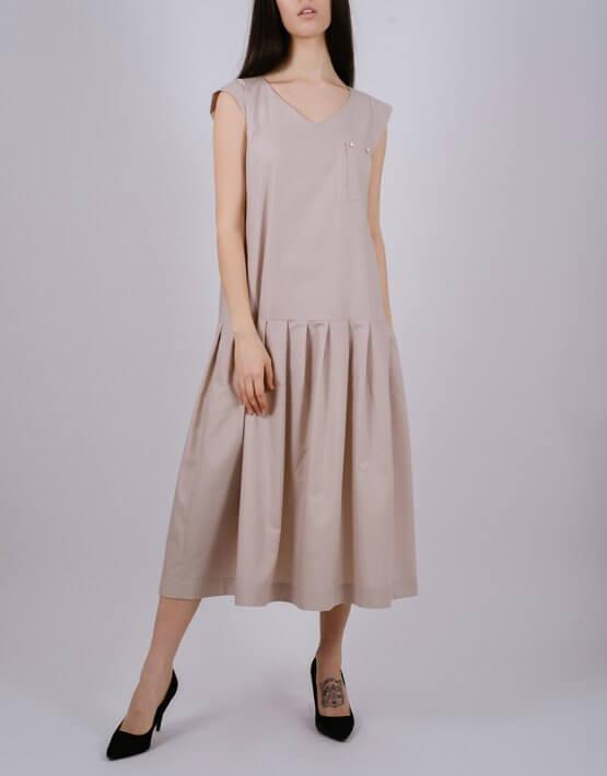 Хлопковое платье с карманом MNTK_MTDRS202, фото 4 - в интеренет магазине KAPSULA