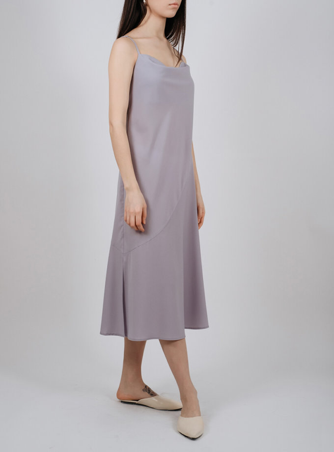 Платье миди на тонких бретелях MNTK_MTDRS207, фото 1 - в интернет магазине KAPSULA