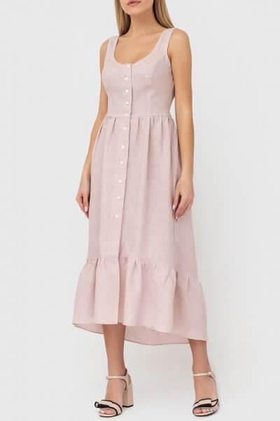 Платье из льна на пуговицах MRND_М51-1, фото 4 - в интеренет магазине KAPSULA