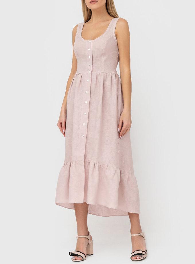 Платье из льна на пуговицах MRND_М51-1, фото 1 - в интернет магазине KAPSULA