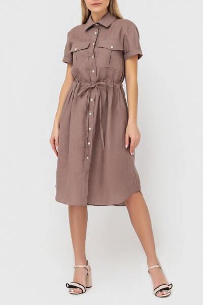 Платье-рубашка из льна MRND_М53-1, фото 1 - в интеренет магазине KAPSULA