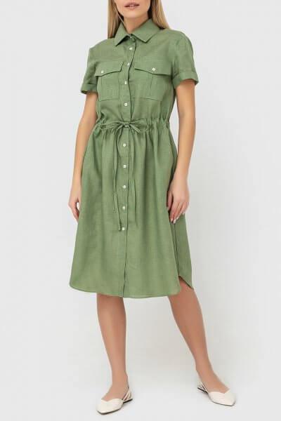 Платье-рубашка из льна MRND_М53-2, фото 3 - в интеренет магазине KAPSULA