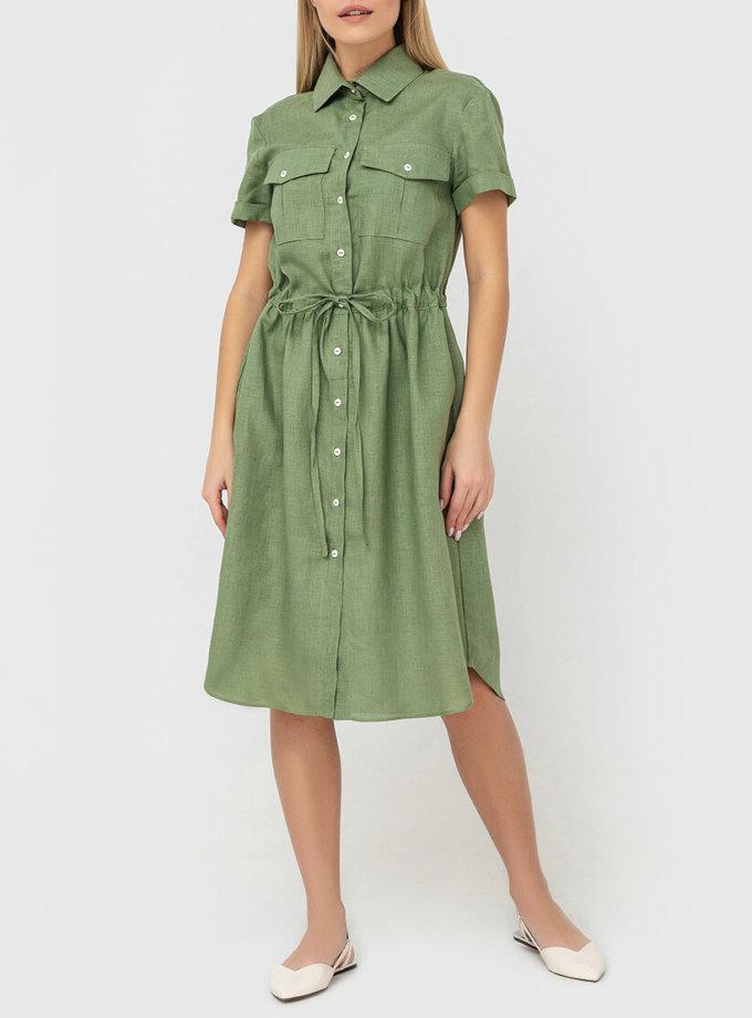 Платье-рубашка из льна MRND_М53-2, фото 1 - в интернет магазине KAPSULA