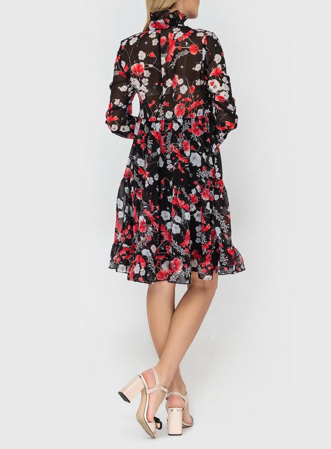 Шифоновое платье свободного кроя MRND_М66-1, фото 1 - в интеренет магазине KAPSULA