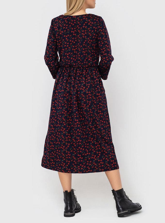 Платье со шнуровкой на груди MRND_М82-1, фото 1 - в интеренет магазине KAPSULA