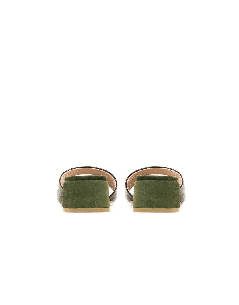 Кожаные слайдеры Rio Brown MRSL_471931, фото 1 - в интернет магазине KAPSULA