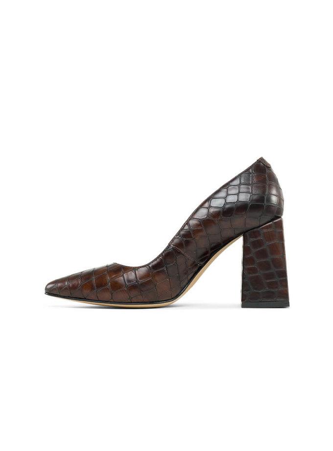 Туфли Beverly Python из кожи MRSL_724896, фото 1 - в интеренет магазине KAPSULA