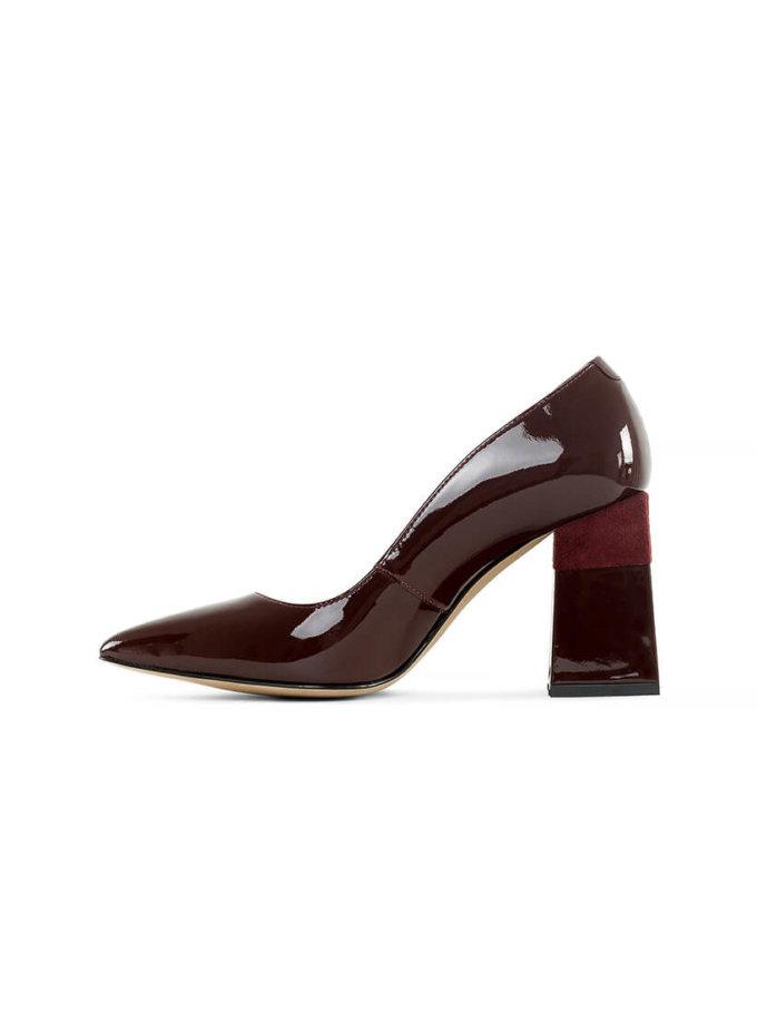 Кожаные туфли Beverly Bordeaux MRSL_725406, фото 1 - в интеренет магазине KAPSULA