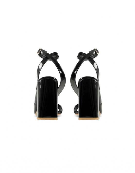 Босоножки Malena Black из кожи MRSL_818501, фото 4 - в интеренет магазине KAPSULA