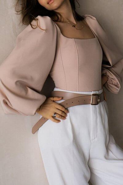 Корсет с рукавами-буфами MSY_beige_corset, фото 1 - в интеренет магазине KAPSULA