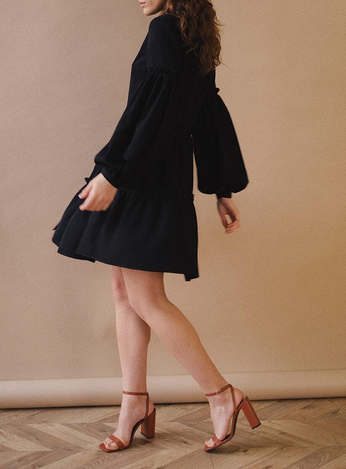 Платье с рукавами-буфами MSY_blackdress_mini, фото 1 - в интеренет магазине KAPSULA