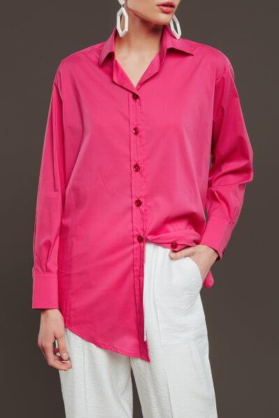 Удлиненная блуза из хлопка NM_308-1, фото 1 - в интеренет магазине KAPSULA