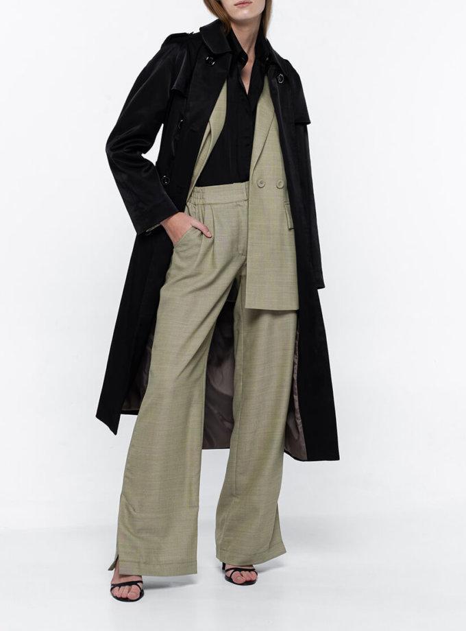 Широкие брюки из тонкой шерсти NM_368, фото 1 - в интернет магазине KAPSULA