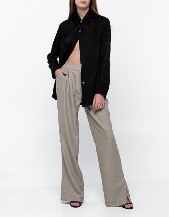 Широкие брюки из тонкой шерсти NM_371, фото 2 - в интеренет магазине KAPSULA