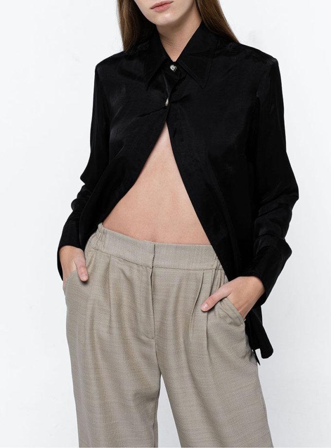 Широкие брюки из тонкой шерсти NM_371, фото 1 - в интеренет магазине KAPSULA