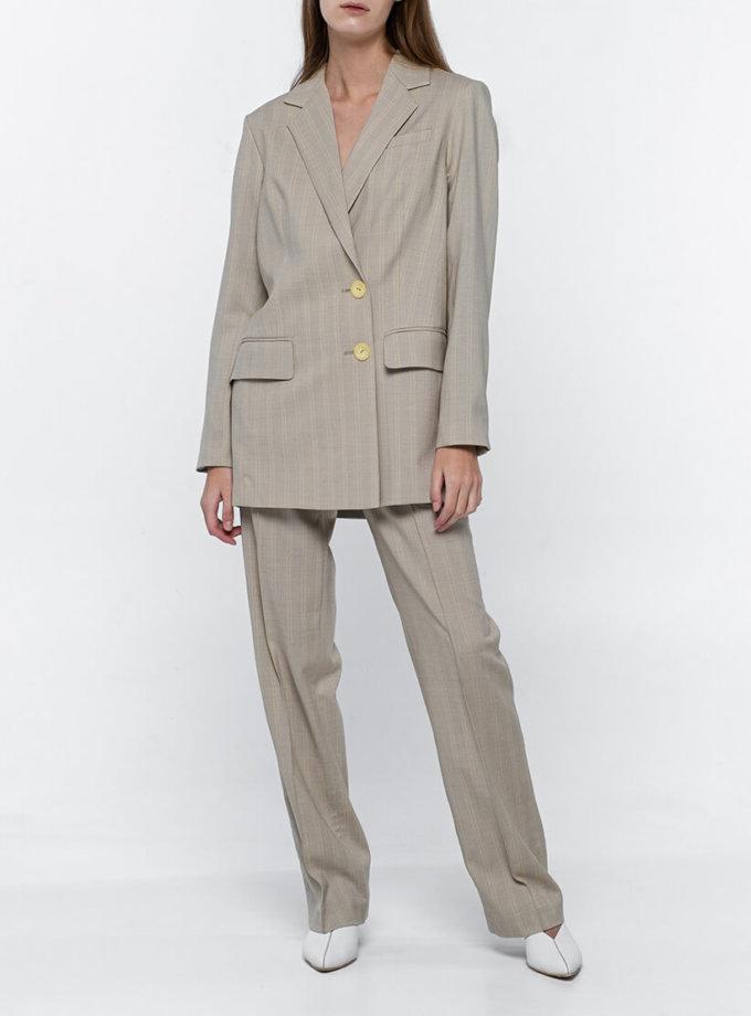 Прямые брюки из тонкой шерсти NM_374, фото 1 - в интернет магазине KAPSULA