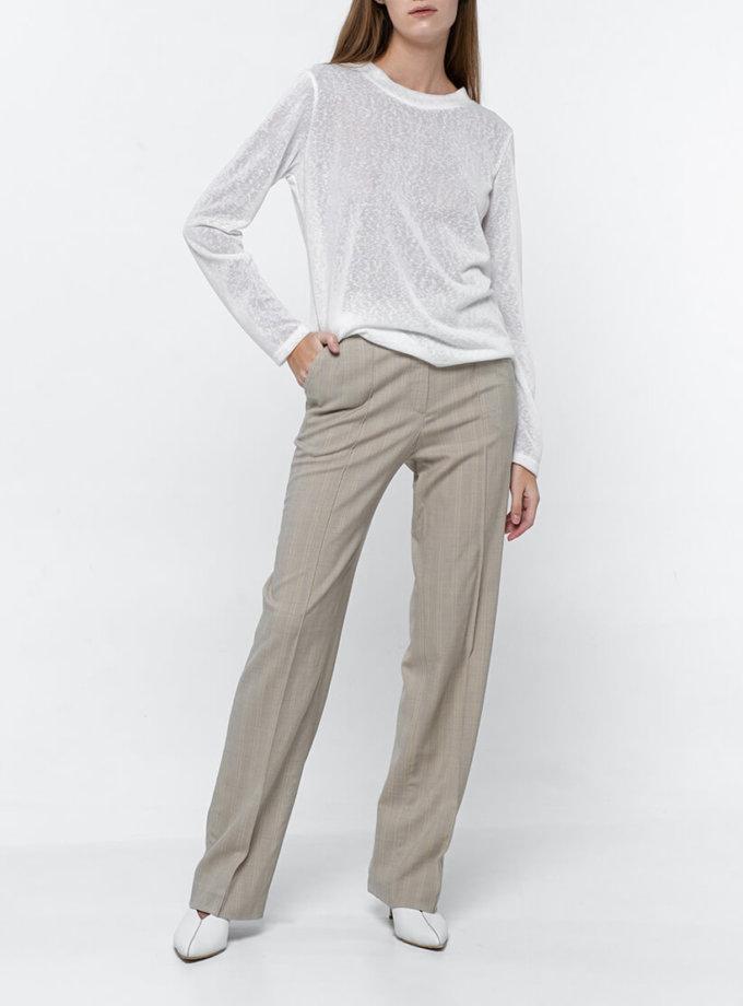 Прямые брюки из тонкой шерсти NM_374, фото 1 - в интеренет магазине KAPSULA