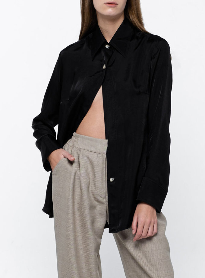 Классическая рубашка на пуговицах NM_380, фото 1 - в интернет магазине KAPSULA