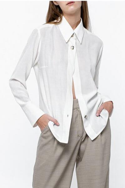 Классическая рубашка на пуговицах NM_381, фото 1 - в интеренет магазине KAPSULA